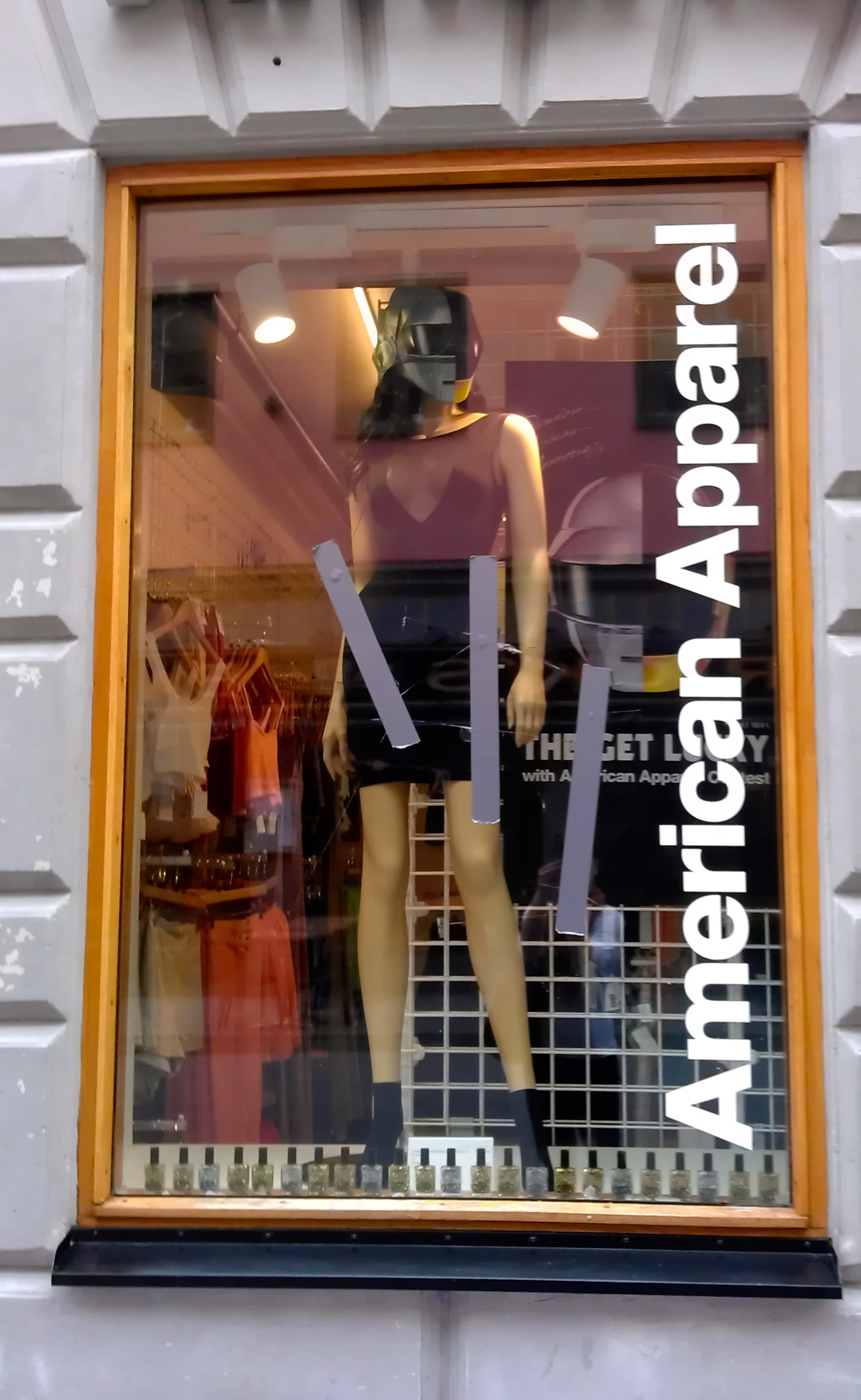 Americal Apparel Shop Window in Stockholm