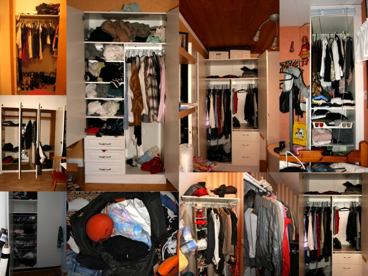 Understanding people through their wardrobes. These are some of the wardrobes in the homes of people who were kind enough to open their homes to me during fieldwork for my PhD dissertation.