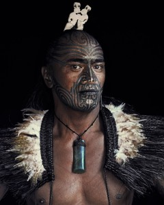 Maori man of New Zealand. Image by J Nelson, from beforethey.com